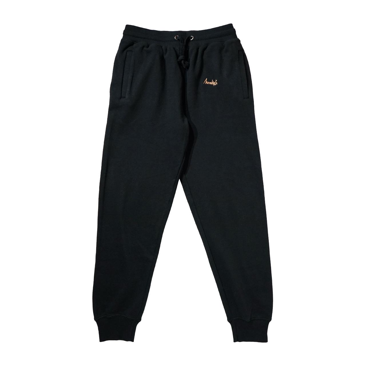 Mewship50【BASIC LOGO】light sweat pants (BK×BG)