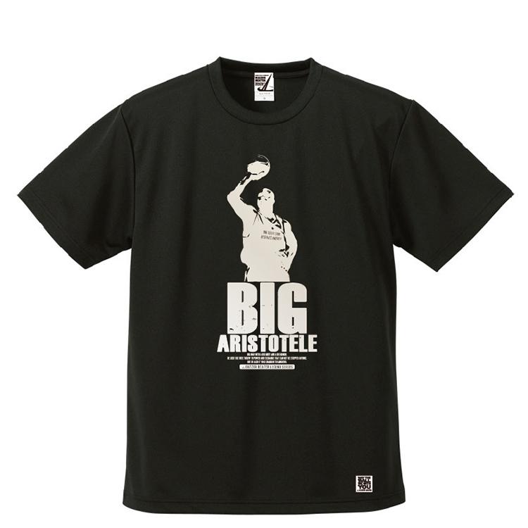 BBオリジナル【BIG ARISTOTELE】Tシャツ BK×SIL
