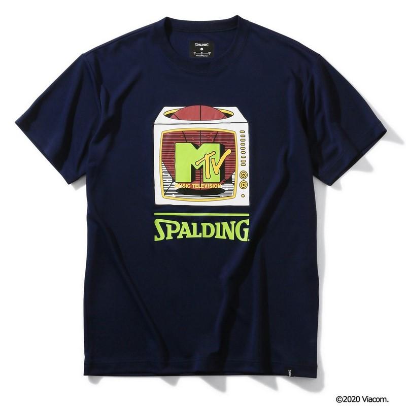 SPALDING Tシャツ MTV テレビジョン【SMT200050 NV】