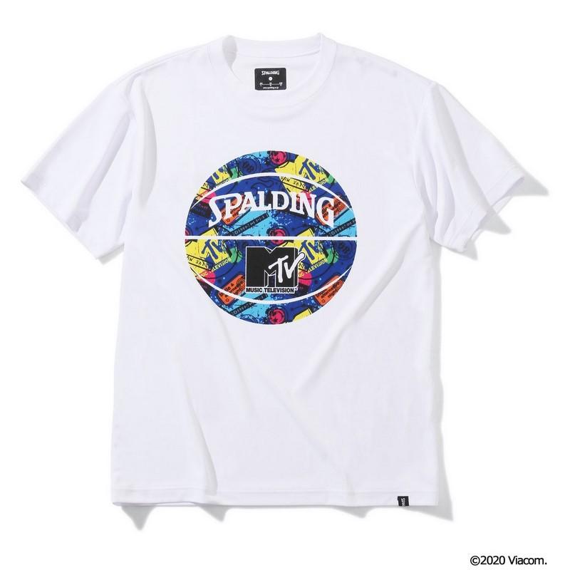 SPALDING Tシャツ MTV ギター【SMT200080 WH】