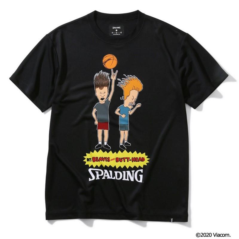 SPALDING Tシャツ BEAVIS AND BUTT-HEAD【SMT200100 BK】