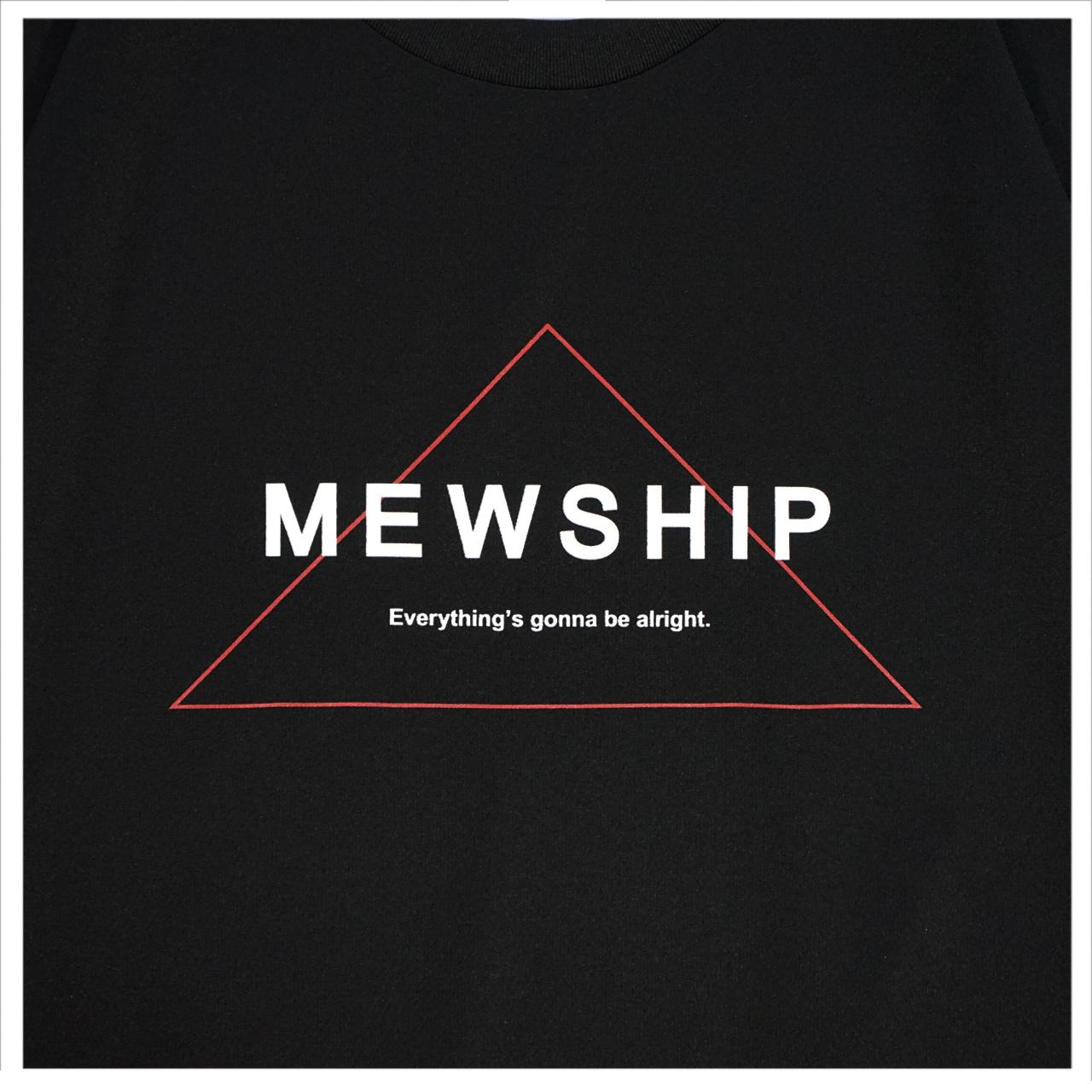 Mewship50 Triangle S/S PL <Black×White×R.Orange>