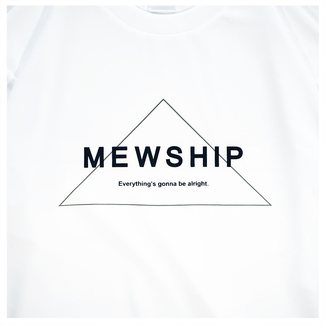 Mewship50 Triangle S/S PL <White×Black×M.Green>